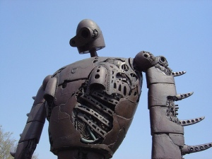 Robot in the sky (Photo by Jonathan O'Donnell; taken at the Ghibli Museum)