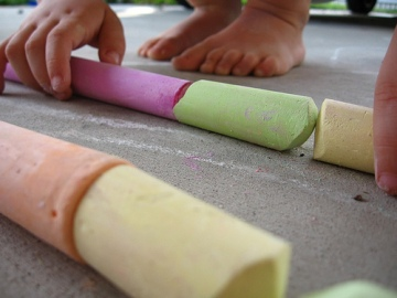 Chalk trains (Photo by Ben Kraal)
