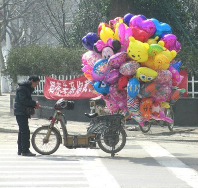 Balloon man (Photo by Jonathan O'Donnell)