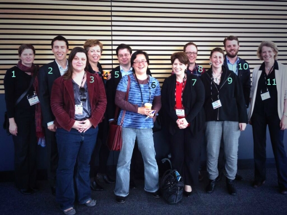 Tweet-up crew: 1) @KTAustralia (Tamika Heiden); 2)  @lapsedscientist (A.J. Woodhouse)