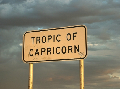 Tropic of Capricorn sign (Photo by Dan Dyer: https://www.flickr.com/photos/dwdyer)