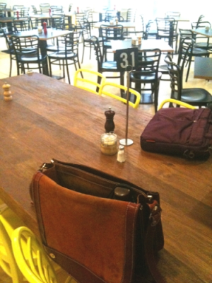 The #SUAW table, Pearson and Murphy's cafe, Melbourne (photo by Tseen Khoo)