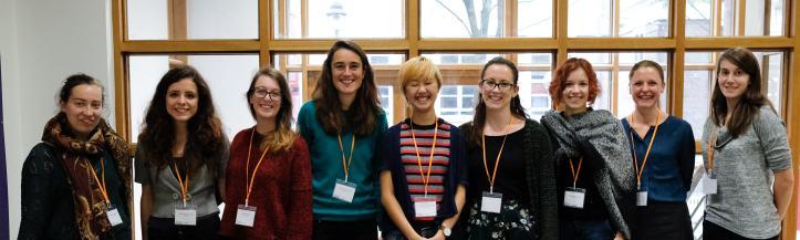Nine smiling female psychologists