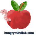 Worm emerging from an apple - hungrymindlab.com