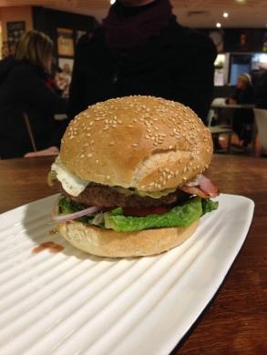 A lovely hamburger.