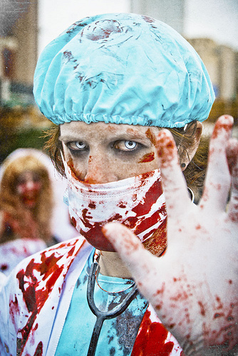 Zombie medical lab assistant